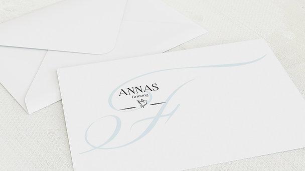 Umschlag mit Design Firmung - Antiqua Taube