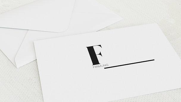 Umschlag mit Design Firmung - Mondän