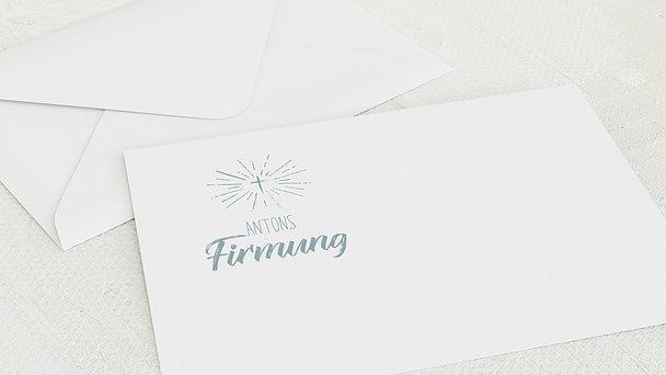 Umschlag mit Design Firmung - Ankündigung