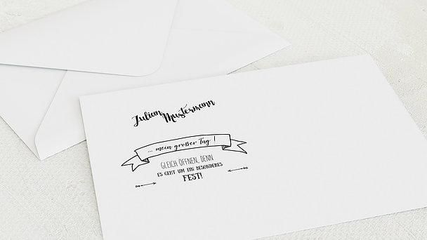 Umschlag mit Design Firmung - Kraftliner