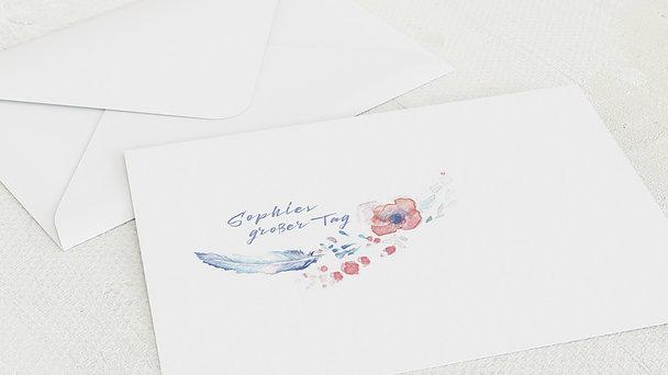 Umschlag mit Design Firmung - Federkiel