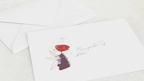 Umschlag mit Design Firmung - Mohnblüte Firmung