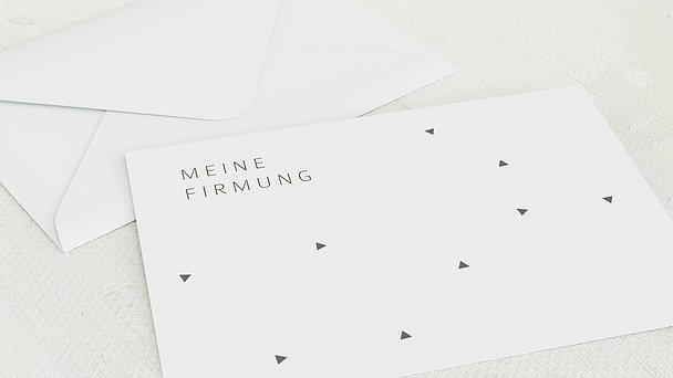 Umschlag mit Design Firmung - Dreieckstanz