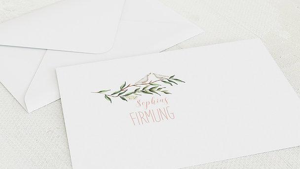 Umschlag mit Design Firmung - Firmungkranz