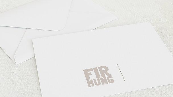 Umschlag mit Design Firmung - Fototext