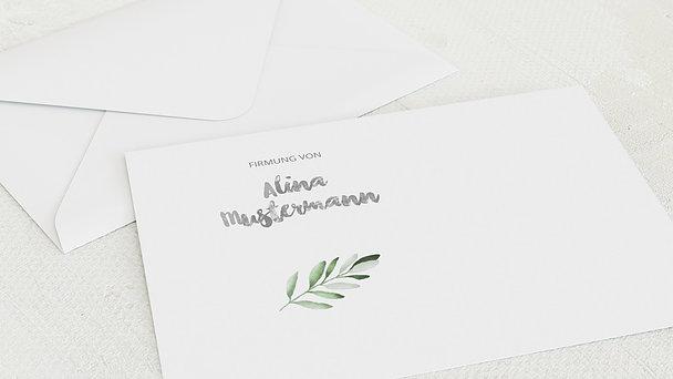 Umschlag mit Design Firmung - Edle Zweige