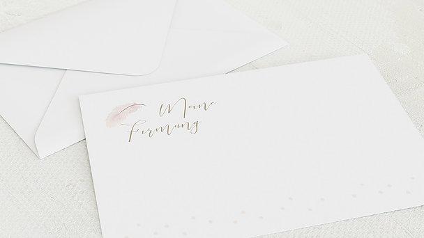 Umschlag mit Design Firmung - Federzart