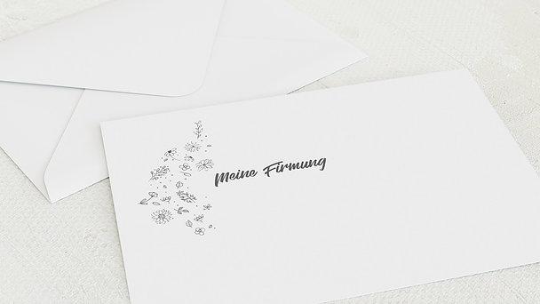 Umschlag mit Design Firmung - Blumenstil
