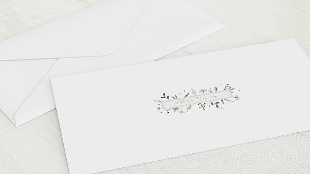 Umschlag mit Design Firmung - Wiesenblume