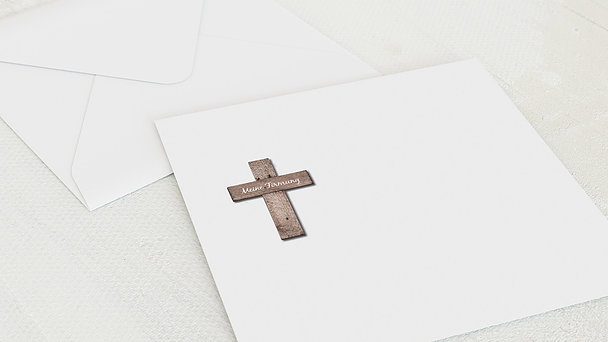 Umschlag mit Design Firmung - Kreuz mit Fotos