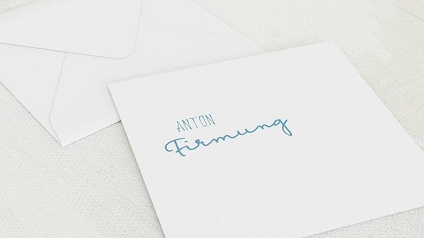 Umschlag mit Design Firmung - Portraitfoto