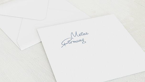 Umschlag mit Design Firmung - So schnell groß