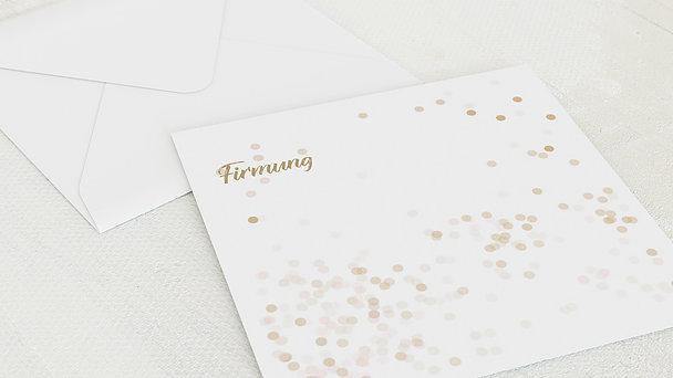 Umschlag mit Design Firmung - Elfenstaub