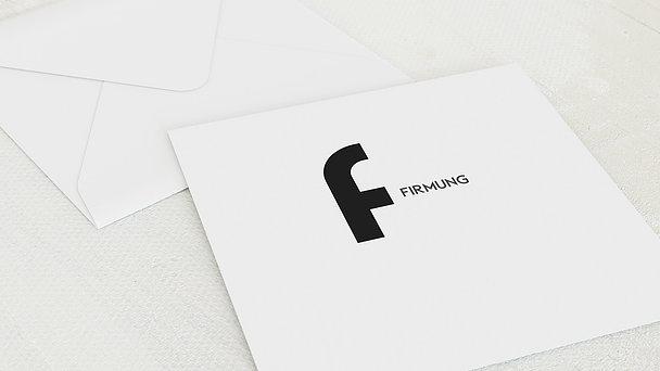Umschlag mit Design Firmung - Symbolik