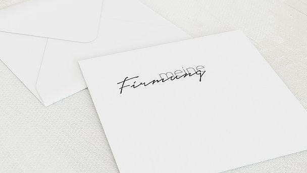 Umschlag mit Design Firmung - Sprudelnd
