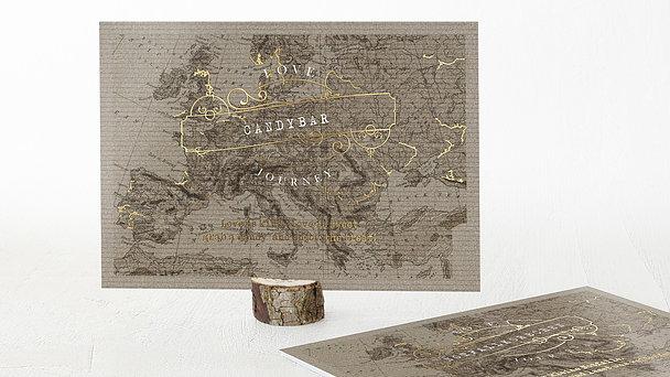 Dekoschilder - Unsere Weltkarte