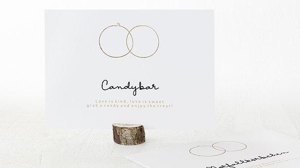 Dekoschilder - Zarte Ringe