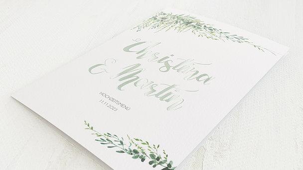 Menükarte Hochzeit - Grüne Pracht