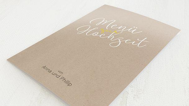 Menükarte Hochzeit - Schönstes Abenteuer