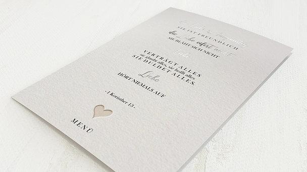 Menükarte Hochzeit - Liebesvers
