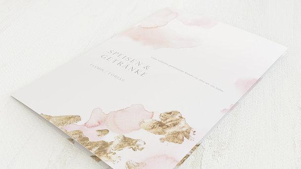 Menükarte Hochzeit - Goldreich
