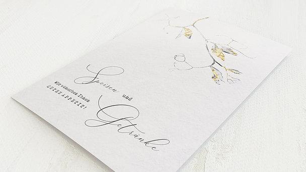 Menükarte Hochzeit - Edles Zweiglein