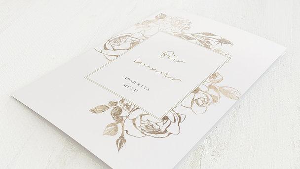 Menükarte Hochzeit - Rosenstolz