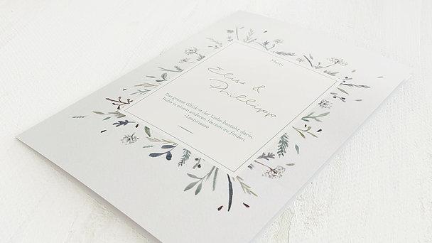 Menükarte Hochzeit - Wiesenblume