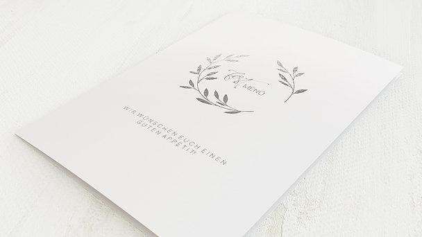 Menükarte Hochzeit - Zweiglein