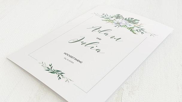 Menükarte Hochzeit - Blütentraum