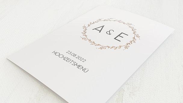 Menükarte Hochzeit - Zarte Ranken