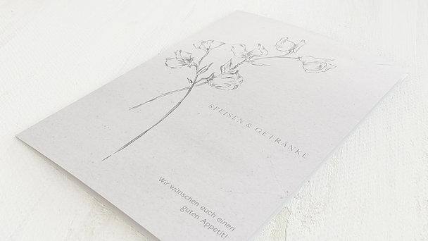 Menükarte Hochzeit - Zartes Bouquet