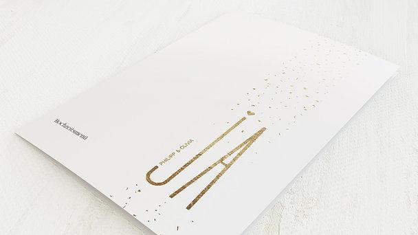 Menükarte Hochzeit - Goldsturm