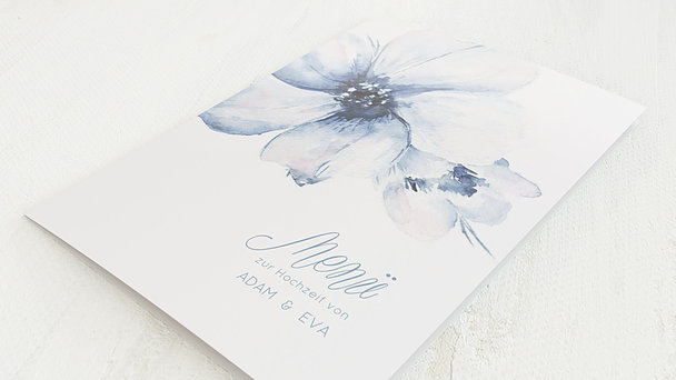 Menükarte Hochzeit - Blütenpracht