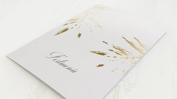 Menükarte Hochzeit - Palmenwerk