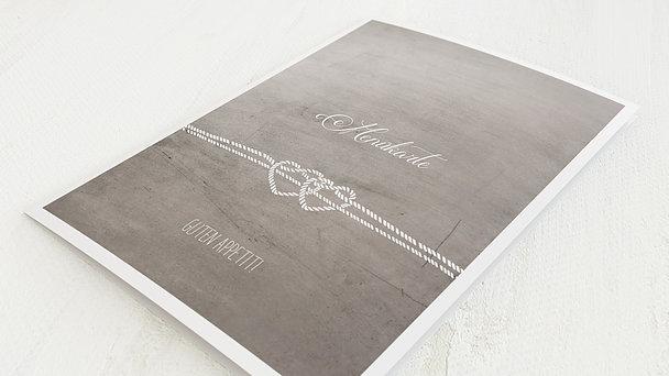 Menükarte Hochzeit - Liebesknoten