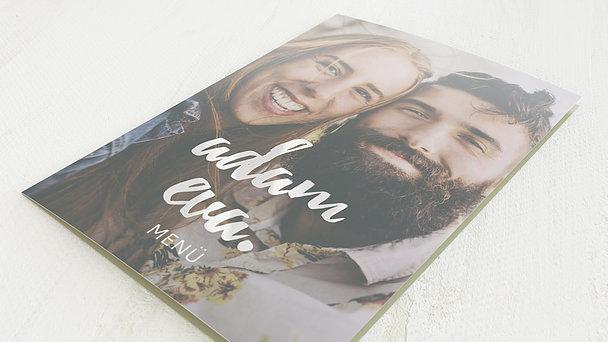 Menükarte Hochzeit - Verliebt, verlobt