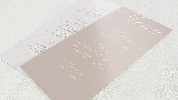 Menükarte Hochzeit - Glitterfunken