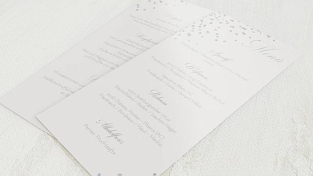 Menükarte Hochzeit - Kristallgestöber