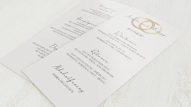 Menükarte Hochzeit - Noblesse