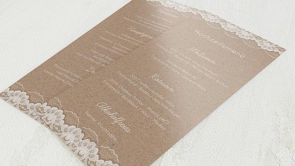 Menükarte Hochzeit - Hochzeitsspitze