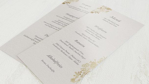 Menükarte Hochzeit - Royal Garden