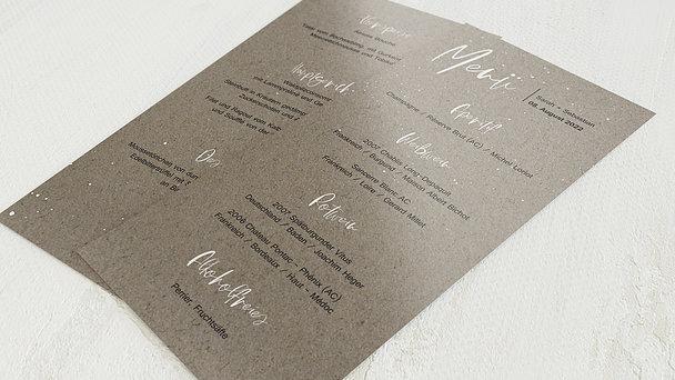 Menükarte Hochzeit - Sternenfunkel