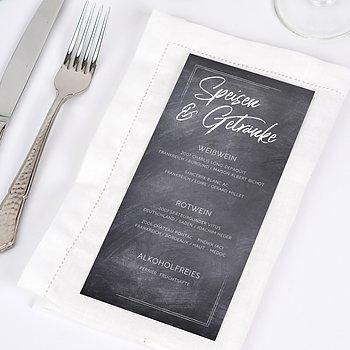 Menükarte Hochzeit - Tafelglanz