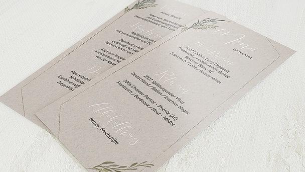 Menükarte Hochzeit - Elegant gerankt