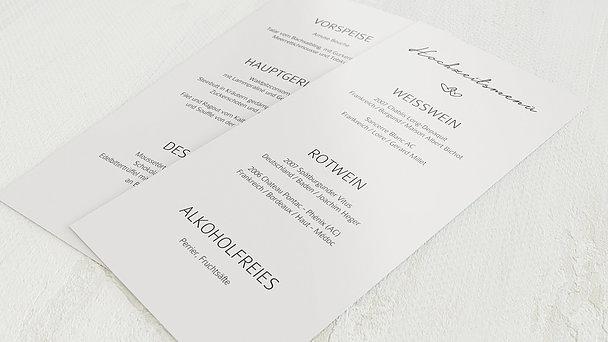 Menükarte Hochzeit - Herzklopfen