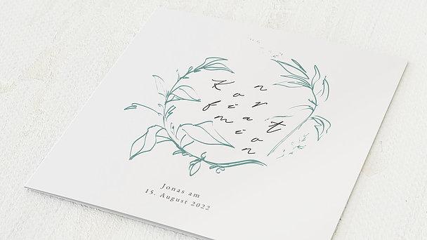 Konfirmationskarten - Tanzende Buchstaben