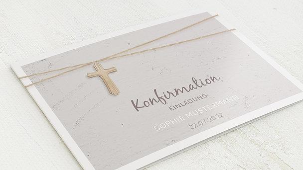Konfirmationskarten - Holzkreuz