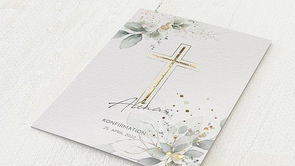 Konfirmationskarten - Umranktes Kreuz