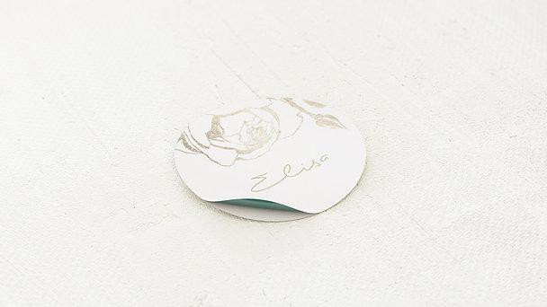 Geschenkaufkleber für Gastgeschenke - Rosenstolz